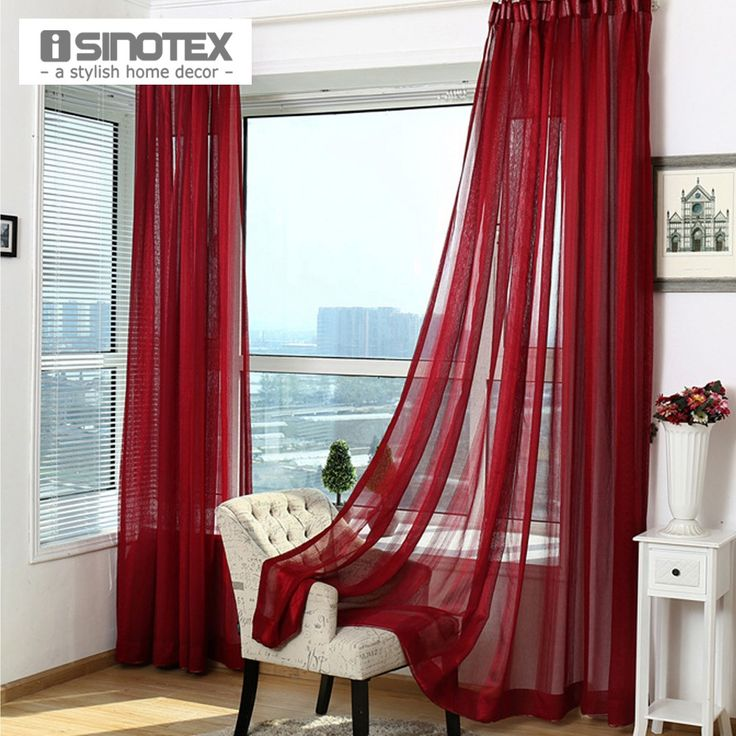 Find More Curtains Information About 1PCS Lot ISINOTEX Window Curtain Sheer Screening Solid Transparent Living