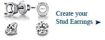 Diamond Stud Earrings - Diamond Solitaire Earrings