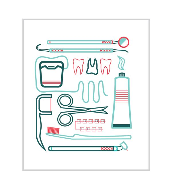 Dentist Icons by Jordan Anderson, via Behance