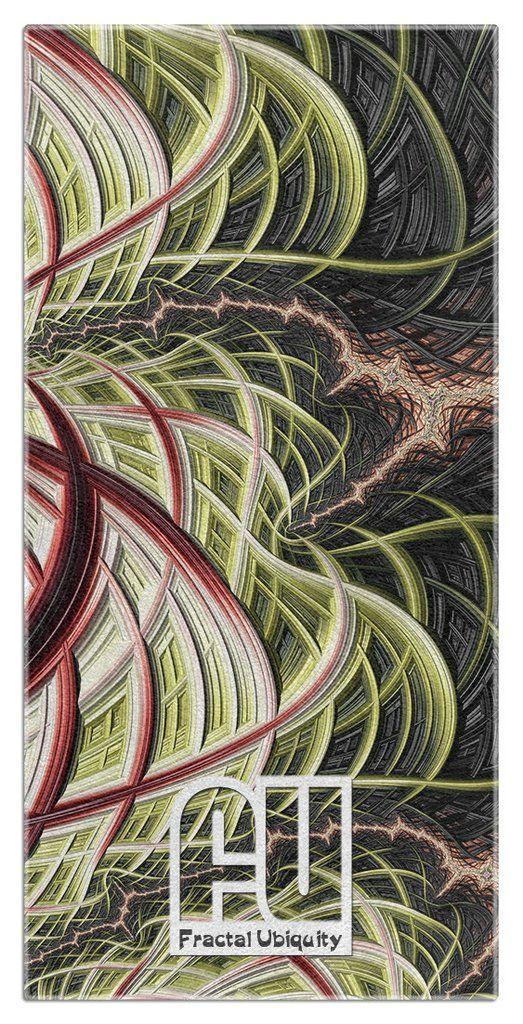 The Kraken Microfiber Polyester Oversized Beach Towel by Fractal Ubiquity