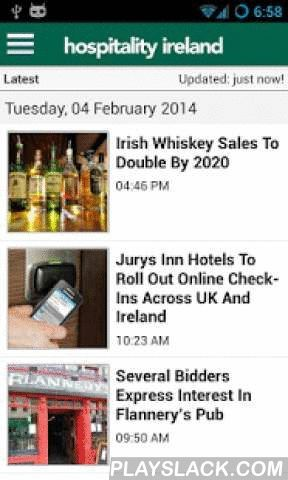 Hospitality Ireland  Android App - playslack.com ,  Hospitality Ireland the news app of Ireland's leading magazine for the hospitality and food service sectors. For all the latest news relating to the hotel, restaurant, pub, bar, nightclub and contract catering sectors.Key features: • All the latest news as it happens • Download the latest stories when you have a signal and then read them offline at your leisure  • Share stories to a range of social networks, or email to a friend • Ability…