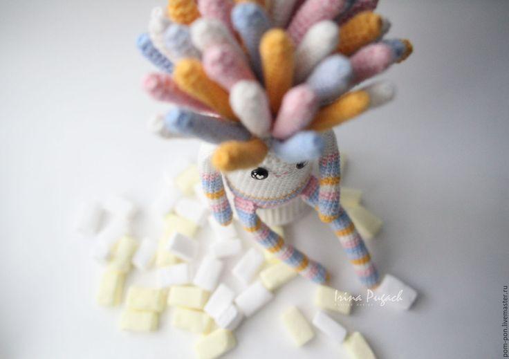 Купить Зефирка игрушка вязаная авторская ручная работа - комбинированный, вязаная игрушка