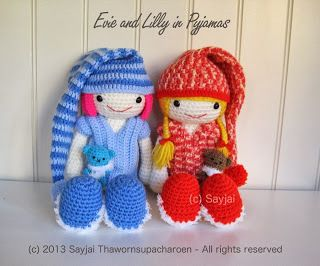 Evie and Lilly pattern translated into Italian, Spanish, German and French