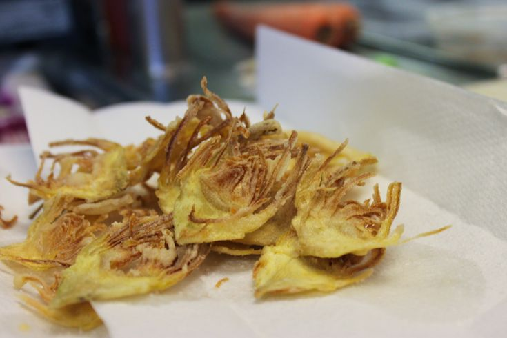 Fried artichokes chips