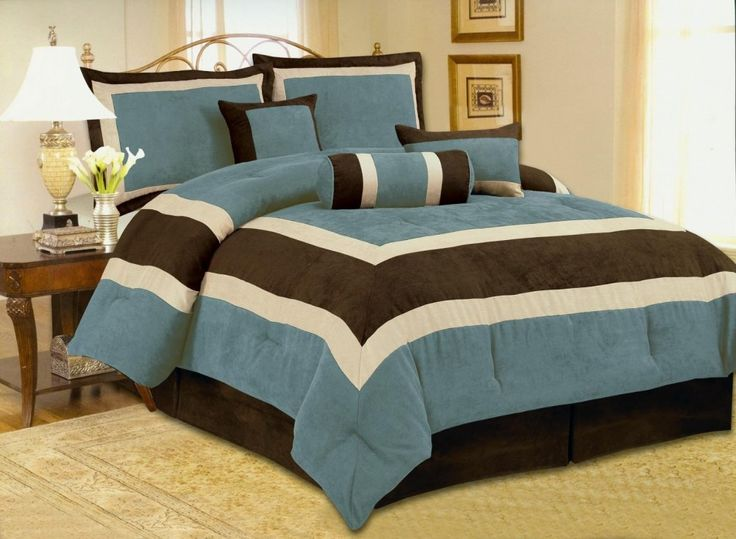 Bedroom    Fancy Image Of Bedroom Decoration Design Ideas Using Blue Brown  Bedspread Including Dark Brown Bed Valance And White Iron Headboard. 1000  ideas about Brown Bed Covers on Pinterest   Twin size bed