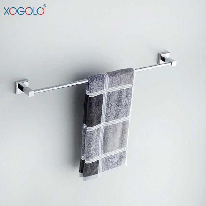 Дешевое Xogolo вся медь ванной вешалка для полотенец ванной вешалка для полотенец один рычаг ванной аппаратных аксессуаров 8724 специальное, Купить Качество Бамбуковые полы непосредственно из китайских фирмах-поставщиках: