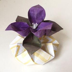62 best small origami flower arrangements images on pinterest little origami flower mightylinksfo