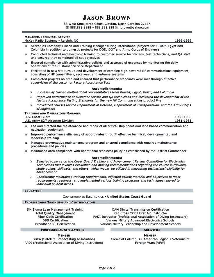 The 2695 best Resume Sample Template And Format images on Pinterest