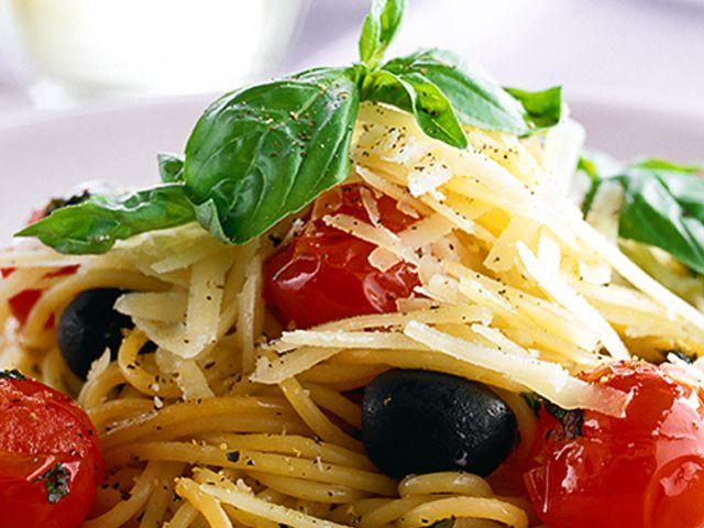 Pasta med grönsaker och parmesan (kock recept.nu)