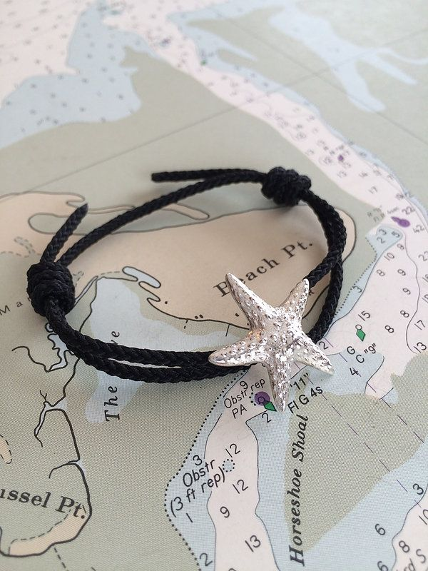 Hold on to summer with a gorgeous sterling silver starfish bracelet available online at Marblehead.Works   #Nautical #Jewelry #Beach #Fashion #Style #Ocean
