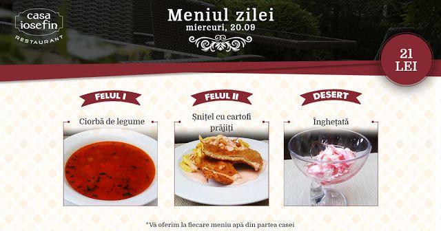 Restaurant Casa Iosefin Timisoara: Meniu Zilei 20.09