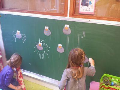 Poten aan de spinnen tekenen