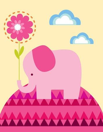 Adorable elephant wall art
