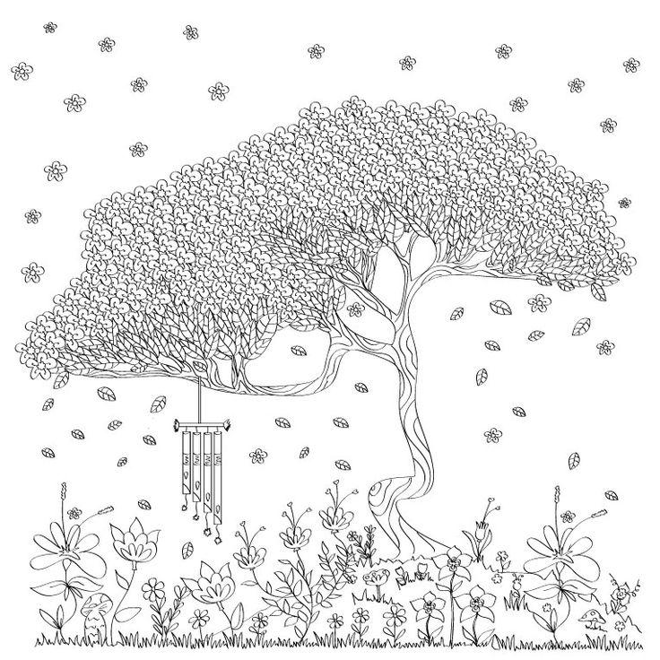 Uno de los árboles de FLORECE, creado para que lo llenen de color
