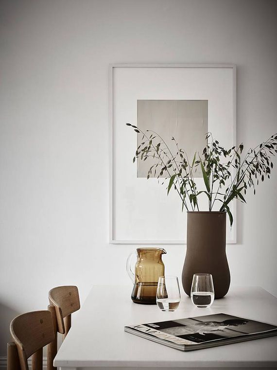 Scandinavian Dining Room Styling. Photo By Jonas Berg Via Stadshem