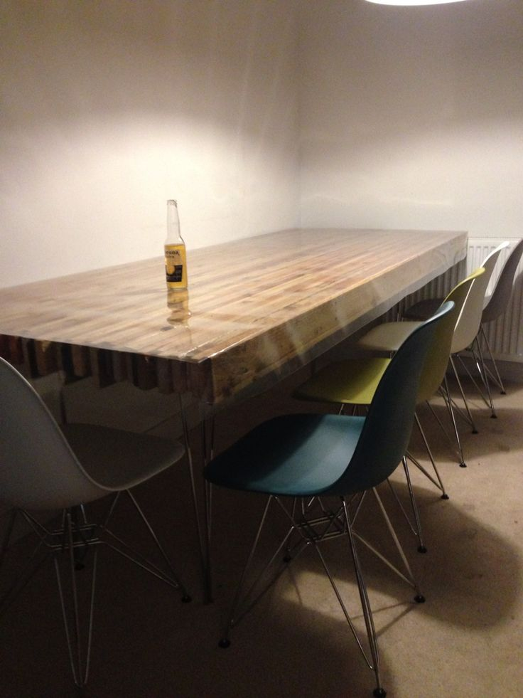 dining table made from pallet wood cover made from