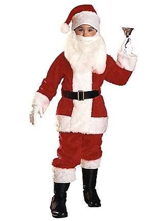 Deluxe Boy Santa - Kids Costume
