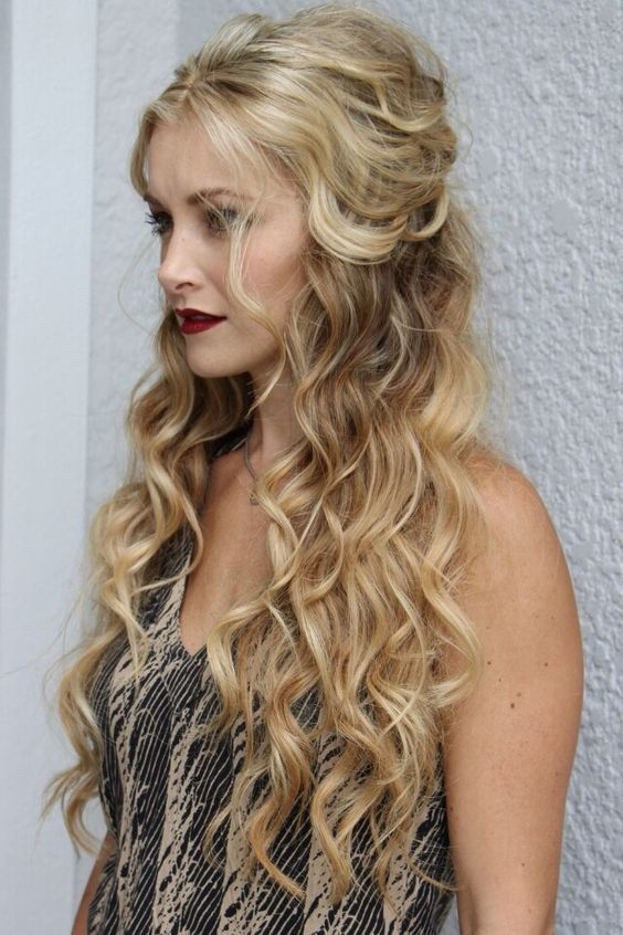 easy formal hair styles wavy easy diy half up half hairstyles g l a m 2865