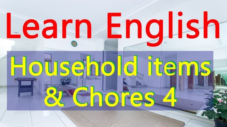 Daily English speaking practice | Household items and chores 4 | Learn E...