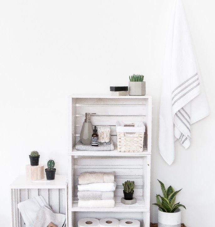 Minimalist Bathroom Tutorial: Best 25+ Crate Shelving Ideas On Pinterest