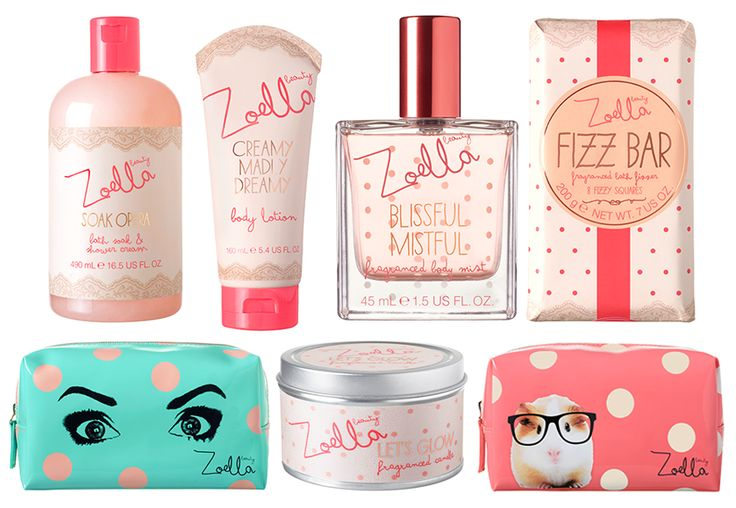 Zoella beauty range !! :3 I've got the soap opera bottle, the makeup bag (one with Zoe's eyes) and the body lotion ! 4 MORE TO GO XD