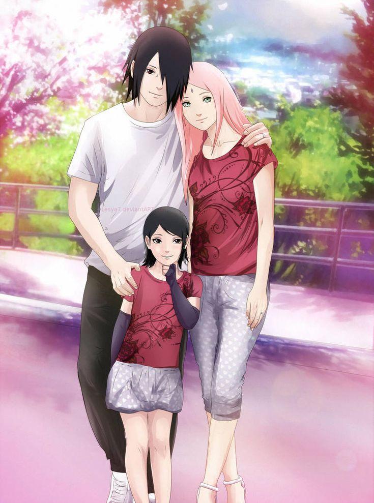 Картинки дети саске и сакуры