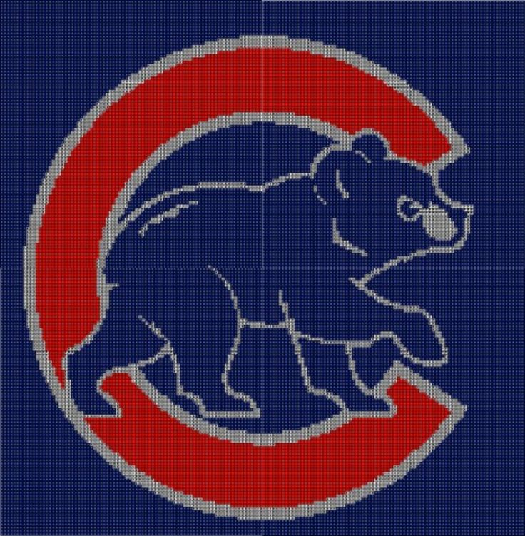 Free Crochet Pattern For Chicago Bears C : Chicago Cubs Afghan Crochet Pattern Graph, USD3.5 Crochet ...