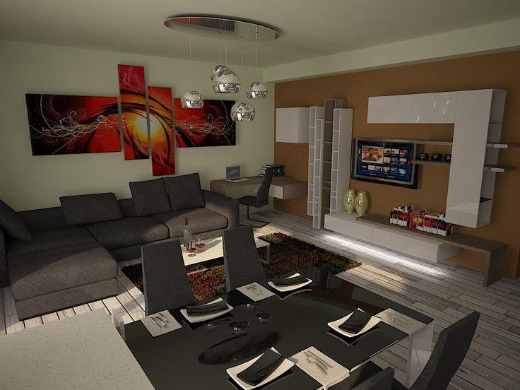 Living room in apartament de vanzare Cluj