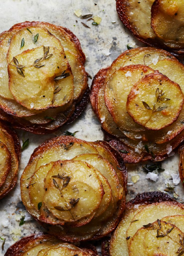 potatoes with thyme and rock salt