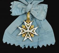 """""""Être un cordon bleu"""" - Ordre du Saint-Esprit, croix en or émaillé (fin du XVIIIe siècle)"""