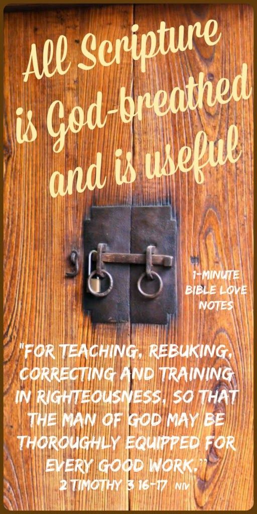 """There is no shortage of """"authorities,"""" but we can't always trust them. The Bible, however, can always, always, always be trusted! Amen! ~ To read a 1-minute devotion about God's Word, click the image and when it enlarges, click again."""