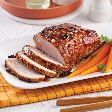 Rôti de porc caramélisé à l'asiatique à la mijoteuse - Soupers de semaine - Recettes 5-15 - Recettes express 5/15 - Pratico Pratique