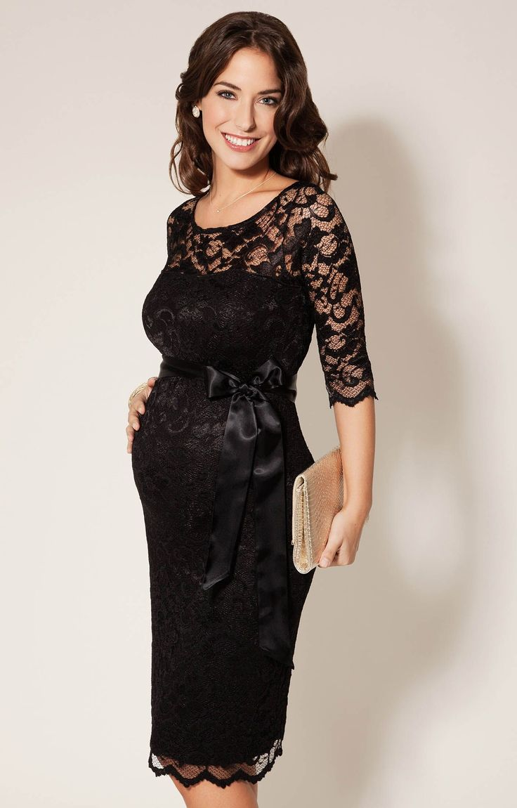 For the expectant mother with people to see and events to attend:  the Amelia Lace Maternity Dress Short (Black) by Tiffany Rose