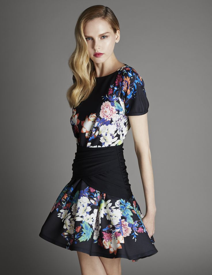 Black Floral Dress by Nora Noh