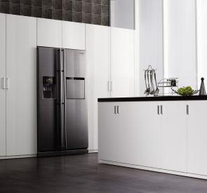 8 best images about inbouw amerikaanse koelkast on pinterest the panel freezers and american - Moderne amerikaanse keuken ...