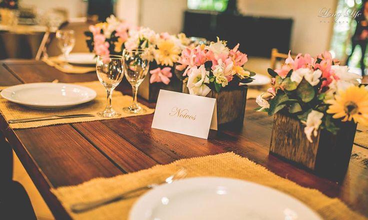 Mesa dos noivos - Casamento final de tarde
