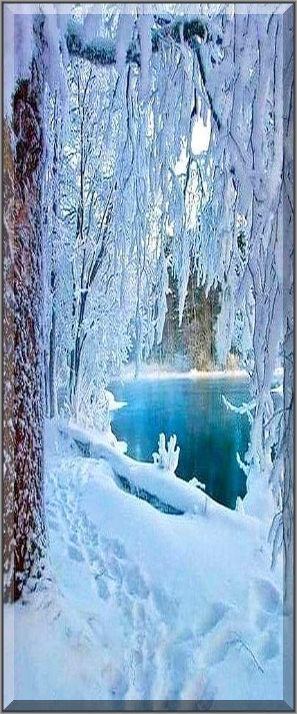 amazing FINNLAND WINTER scenery #finland snow lake sea frosty ice nature landscape #Quelle: scontent-yyz1-1.x... und www.pinterest.com...