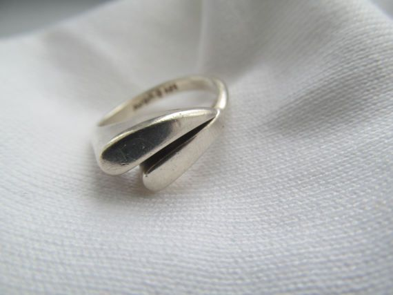 Modern Sterling Silver Avon Ring by LaDameauxBijoux on Etsy