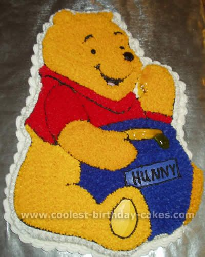Winnie the Pooh Picture Cakes -- cake like my mom used to make!