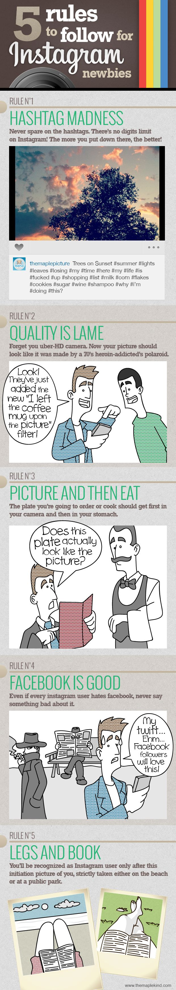 5 Rules to Follow for Instagram Newbies - [COMIC]