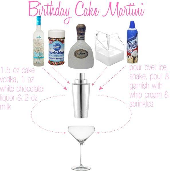 Best 25+ Birthday Cake Martini Ideas Only On Pinterest