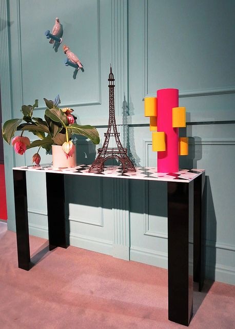 #coco console table, #design by Elena Cutolo for #altreforme A Moveable Feast #stand @iSaloni 2014 #paris #chanel #anni20 #roaringtwenties #designweek #interior #home #decor #homedecor #furniture with #woweffect #aluminium
