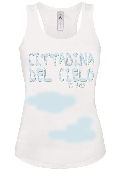 """"""" Cittadina del cielo""""  T-shirt 100% cotone Scollo largo e arrotondato Modello attillato alla moda Vestibilità: SLIM FIT  www.tashagadget.com"""