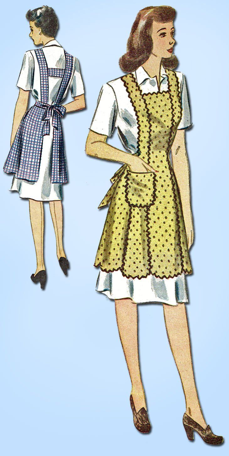 62 Best 1930s Fashion Images On Pinterest Vintage Eozy Luxury Women Sleeveless Lace Long Maxi Dress European Style 1940s Simplicity Sewing Pattern 4868 Wwii Misses Farm Kitchen Apron Sm