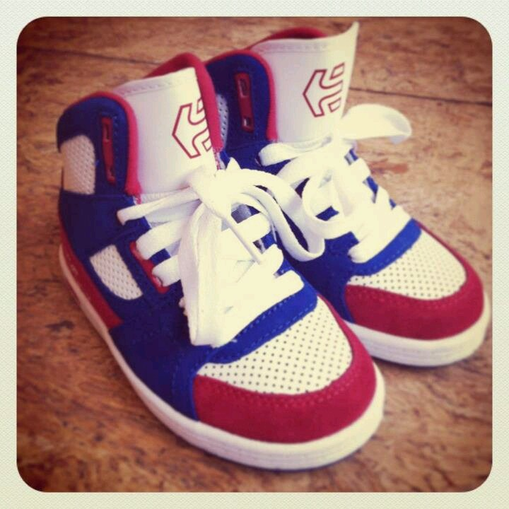 Etnies kids sneakers #etnies #hightop #kids #redwhiteandblue