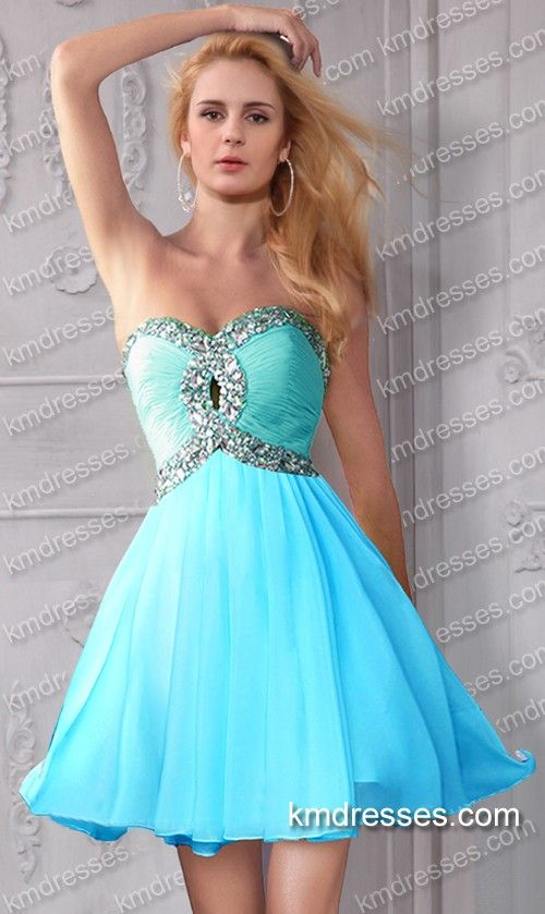 cute multi colored crystals accented short cocktail dress - cheap prom dresses. cheap formal dresses. You are your best outfit. Find out how. CLICK THE PHOTO :)