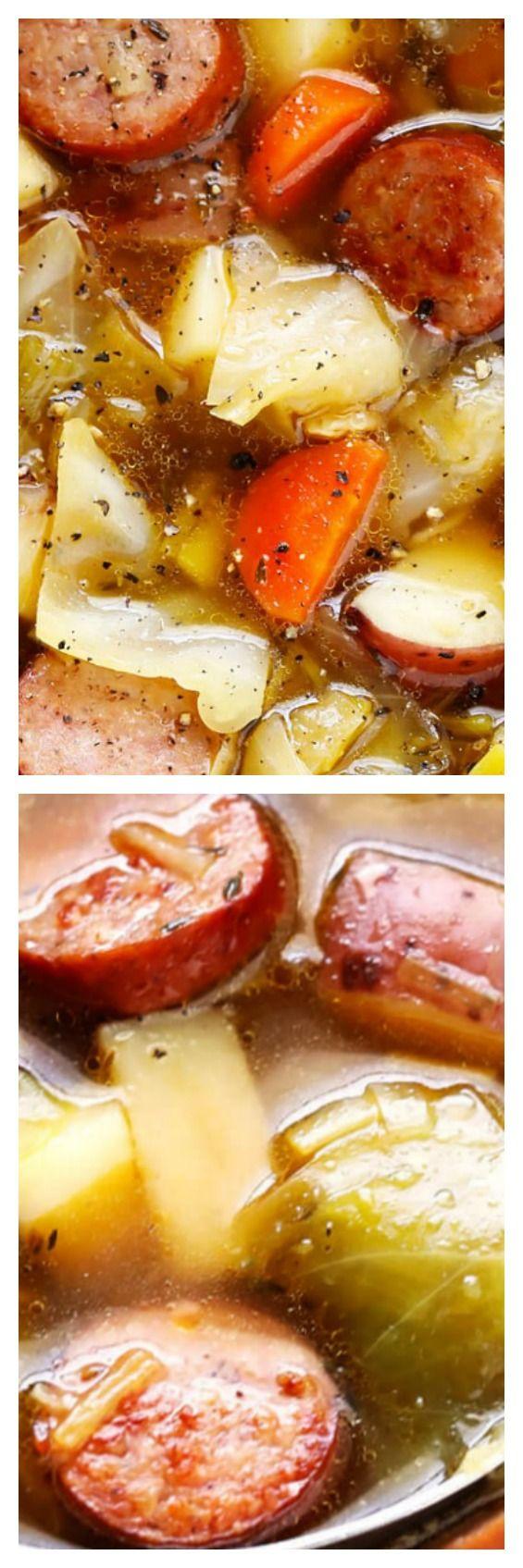 Cabbage, Sausage, and Potato Soup