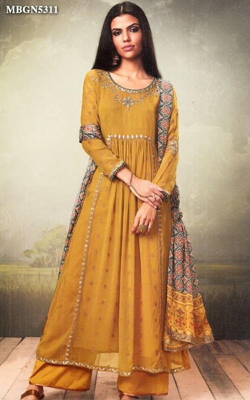 5ea3d605e3b Mustard Yellow Palazzo Suit Set Online Shopping For Ethnic Wear  Buy  Designer Sarees