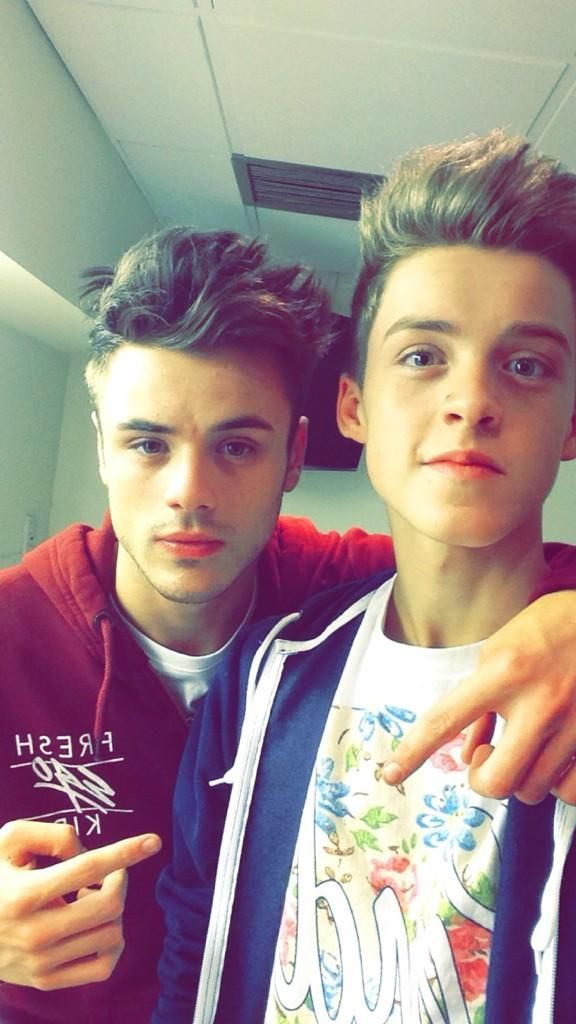 Me and the big bro! Done for the day at studios! But no rest for the wicked, NEED to nail my solo! - reece x