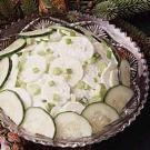 Sour Cream Cucumbers Recipe | Taste of Home Recipes